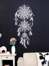 Load image into Gallery viewer, Handmade White Feather Boho Dream Catchers Wall Hanging Ornament