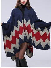 Load image into Gallery viewer, Handmade Seaming Thickening Long Cloak Warm Decorative Shawl Scarf