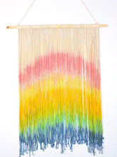Load image into Gallery viewer, Bohemia Hand Made Dyeing Rainbow Tapestry