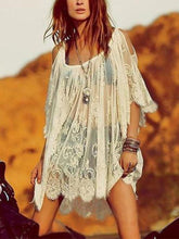 Load image into Gallery viewer, Vintage Hippie Boho Floral Lace Crochet Cover-Up