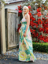 Load image into Gallery viewer, Print Spaghetti Strap Split Bohemia Maxi Dress