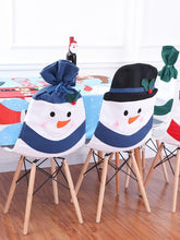 Load image into Gallery viewer, Holiday Snowman Dining Chair Slipcovers Christmas Decorations
