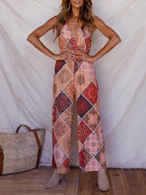 Load image into Gallery viewer, Print Spaghetti Strap Wide Leg Pants Jumpsuit Rompers