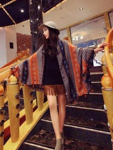 Load image into Gallery viewer, Spring Autumn Bohemian Ethnic Style Cashew Flower Tassel Scarf Sunscreen Shawl