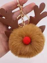 Load image into Gallery viewer, New Christmas Elk Keychain Bag Plush Pendant Accessories