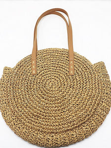 Two Colors Women Summer Beach Bag