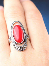 Load image into Gallery viewer, Bohemian Alloy Inlaid Stone Vintage Ring