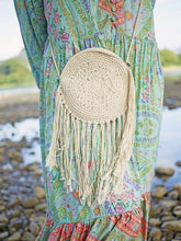 Load image into Gallery viewer, Hand-woven Mandala Holiday Hippie Cotton Tassel Shoulder Bag