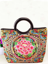 Load image into Gallery viewer, National Style Embroidery Double-Sided Embroidery Portable Versatile Bag