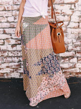 Load image into Gallery viewer, Boho Geometry Printed Elastic Waist Skirt