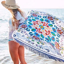 Load image into Gallery viewer, Attractive Bohemia Floral Round Shawl Beach Towel Mat