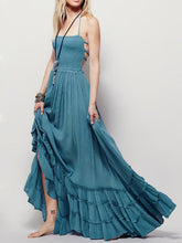 Load image into Gallery viewer, Fashion Sexy Off-Back Lace-up Beach Maxi Dress