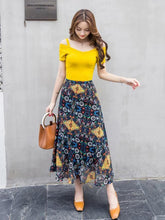 Load image into Gallery viewer, Beautiful Floral-Print Waist Beach Bohemia Skirt Bottoms