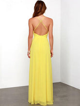 Load image into Gallery viewer, Simple Deep V-neck Backless Sleeveless Bohemian Maxi Dress