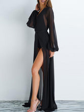 Load image into Gallery viewer, Pretty Chiffon See-through Long Cover-Ups