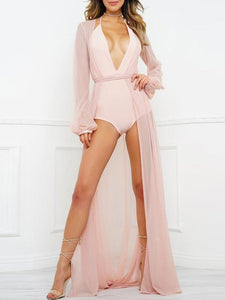 Pretty Chiffon See-through Long Cover-Ups