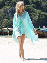 Load image into Gallery viewer, Printed Lace-Up Cover-Ups Swimwear
