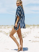 Load image into Gallery viewer, Stripes V-neck Cover-Ups Swimwear