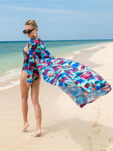 Load image into Gallery viewer, 2018 Summer Printed Long Sleeve Cover Up One Shoulder Swimsuit Two Pieces Set