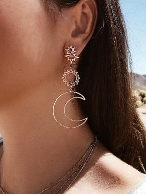 New Bohemian Fashion Individuality Ethnic Style Geometric Earrings