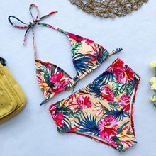 Load image into Gallery viewer, 2020 Women Colorful Plant Printed Bikini Swimsuit