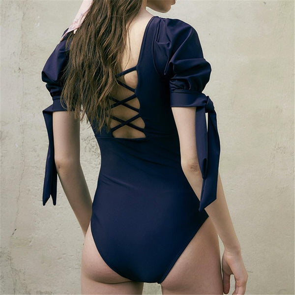One-piece Swimsuit Female Sexy Slim Belly Beautiful Back Small Fresh