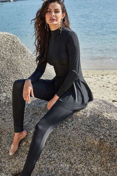 The New One-piece Swimsuit Long-sleeved Trousers Completely Surround The Conservative Sports Association Surfing Sun-protective Clothing