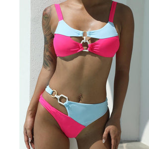 Bikini Swimsuit with Double Ring Stitching