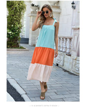 Load image into Gallery viewer, Bohmian Cool and Colorful Pleated New 2021 Dress Sling Mid-length Skirt Foreign Trade Women's JR040