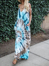 Load image into Gallery viewer, Spaghetti Strap Print Beach Maxi Dress