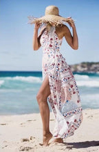 Load image into Gallery viewer, Print Sleeveless Side Split Beach Bohemia Maxi Dress