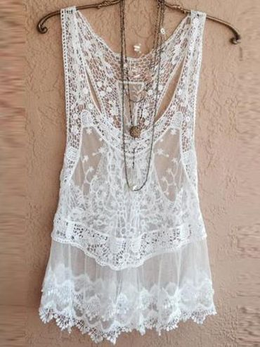 Net Yarn Splicing Beach Swimsuit Cover-shirt Perspective Lace-shirt Women