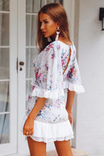 Load image into Gallery viewer, Summer New Floral Beach Mini Dress