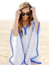 Load image into Gallery viewer, Simple Fashion with Tassels V Neck Beach Dress Mini Dress
