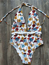 Load image into Gallery viewer, Sexy V-Neck High Waist Floral Printed Swimsuit