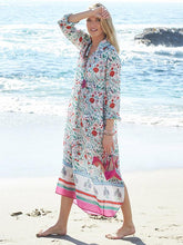 Load image into Gallery viewer, Print Long Sleeve Beach Swimwear Cover Up