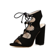 Load image into Gallery viewer, Thick Heel Straps High Heel Sandals