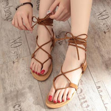 Load image into Gallery viewer, Summer Beach Cross Strap Thong Sandals