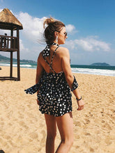 Load image into Gallery viewer, Sexy Bohemia Vacacion Halterneck Polka Dot Backless Jumpsuit