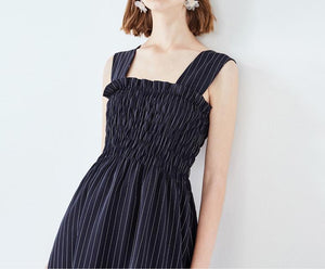 VINTAGE STRIPES MIDI DRESS