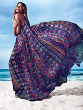 Load image into Gallery viewer, Print Sleeveless Beach Bohemia Maxi Dress