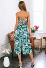 Load image into Gallery viewer, Print Spaghetti Strap Wide Leg Pants Pockets Jumpsuit