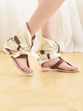 Load image into Gallery viewer, Summer Open Toe Bandage Flat Sandals Shoes