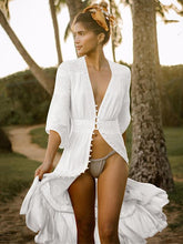 Load image into Gallery viewer, Lace Half Sleeves Beach Cover Up