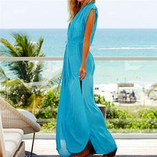 Load image into Gallery viewer, Kaftans Sarong Bathing Solid Color Beach Pareos Cover-up