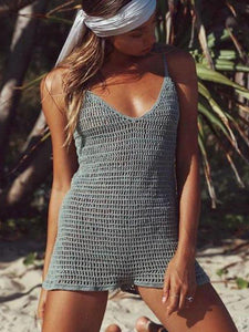 Summer Sexy Handmade Knit Beach Jumpsuit