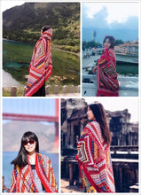Load image into Gallery viewer, Bohemia Printing Tomem Cape Scarf For Women