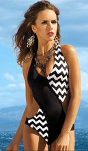 Load image into Gallery viewer, Sexy Corrugated Wave Point Triangle One-Piece Bikini Swimsuit