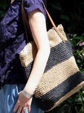 Load image into Gallery viewer, Women's Straw Bag Holiday Shoulder Woven Bag Beach Bag