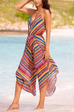 Load image into Gallery viewer, Bohemian Sling Print Colorful Stripes Jumpsuit